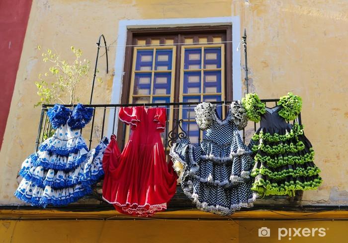 Colorful Flamenco dresses in Spain Vinyl Wall Mural - European Cities