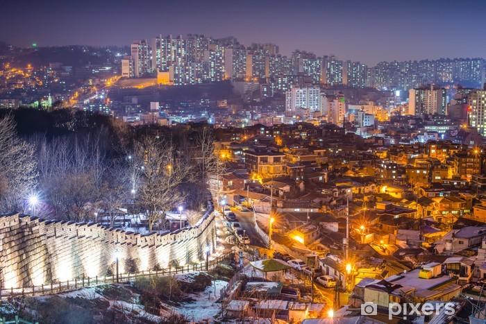 Pixerstick Sticker Oude Muur van Seoul, Zuid-Korea - Thema's