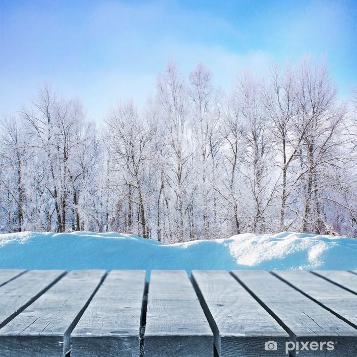 Vinyl-Fototapete Winter-Laufsteg - Texturen