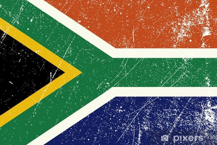 Papier peint vinyle Drapeau Sud Africain vintage - Afrique