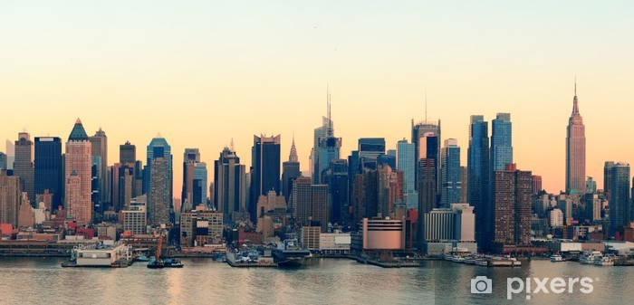Fotomural Estándar New York City puesta del sol - Temas