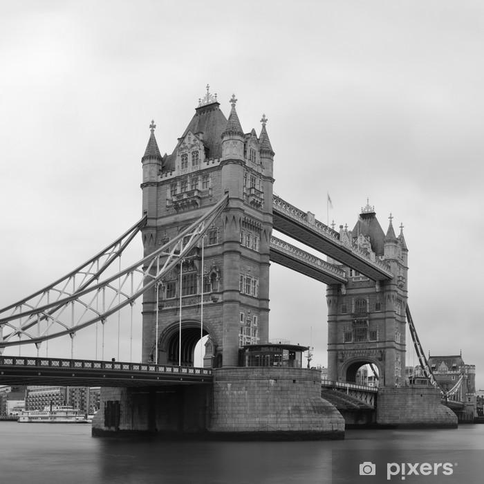 Poster Tower Bridge en noir et blanc - Thèmes