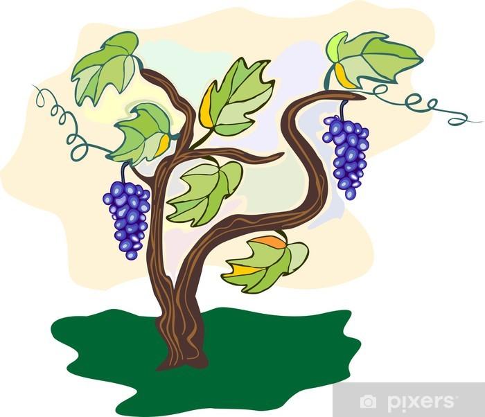 Sticker Pixerstick Vigne raisin - Plantes