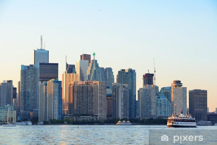 Vinylová fototapeta Toronto panorama s lodí, městské architektury a modrou oblohu - Vinylová fototapeta
