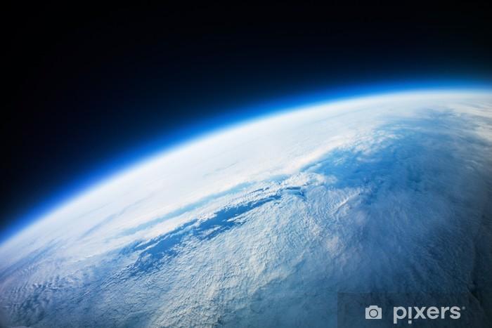 Pixerstick Aufkleber Der Nähe von Space Fotografie - 20km oberirdisch / real photo - Himmel