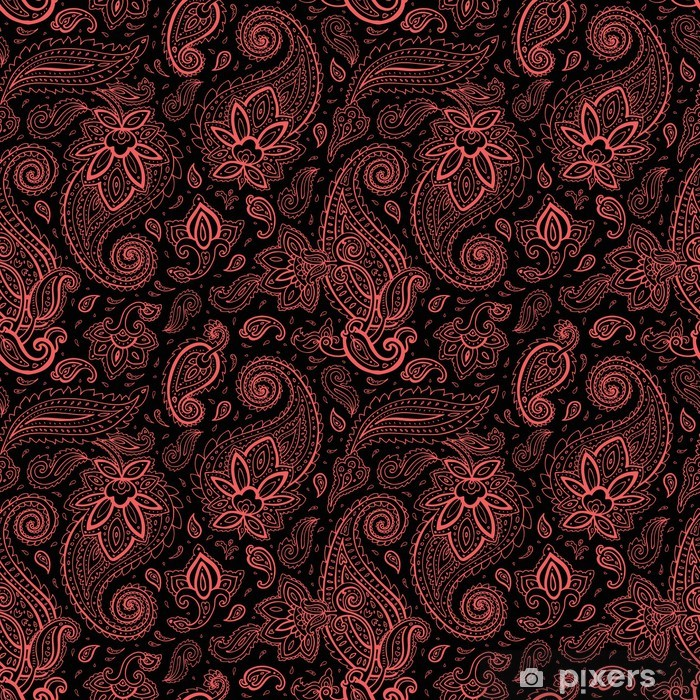 Seamless Paisley background. Wall Mural • Pixers® - We ...