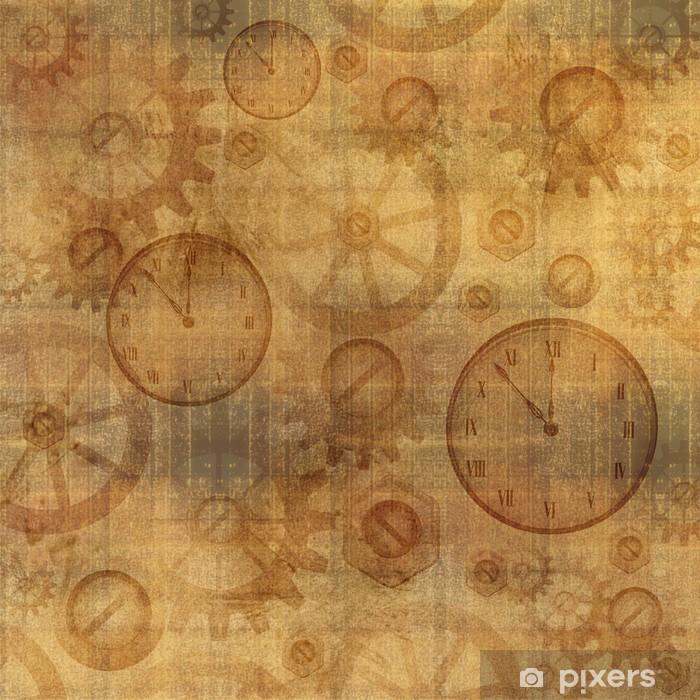 Naklejka Pixerstick Vintage Grunge Styl steampunk tekstury - Steampunk