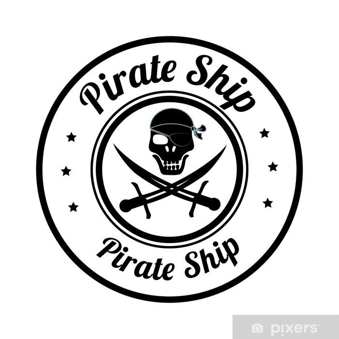Sticker Pixerstick Conception pirate - Violence et criminalité