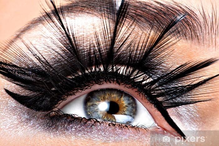 Papier peint vinyle Maquillage pour les yeux Belle - Thèmes
