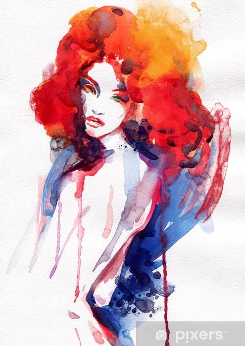 Papier peint vinyle Belle femme. illustration d'aquarelle - Thèmes