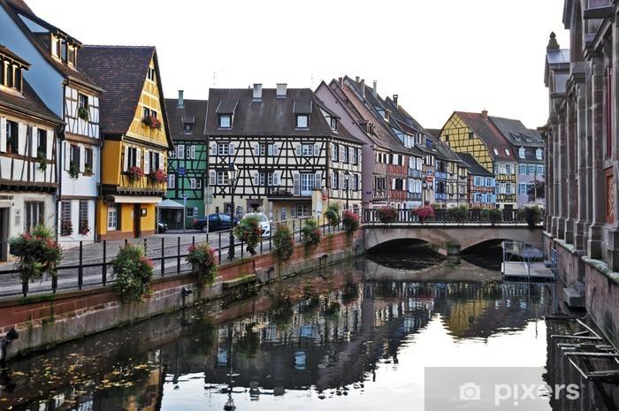 Naklejka Pixerstick Colmar, Alzacja - mała Wenecja i tradycyjne domy - Europa