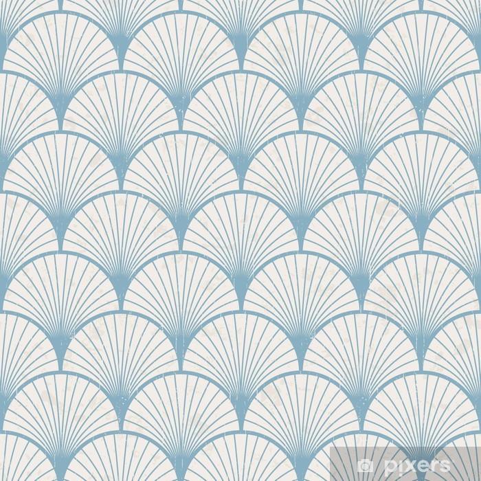 Fotomural Estándar Textura transparente de patrón japonés retro - Estilos