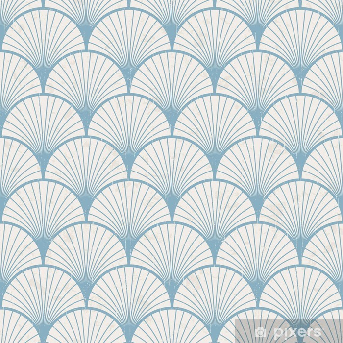 seamless retro japanese pattern texture Pixerstick Sticker - Styles