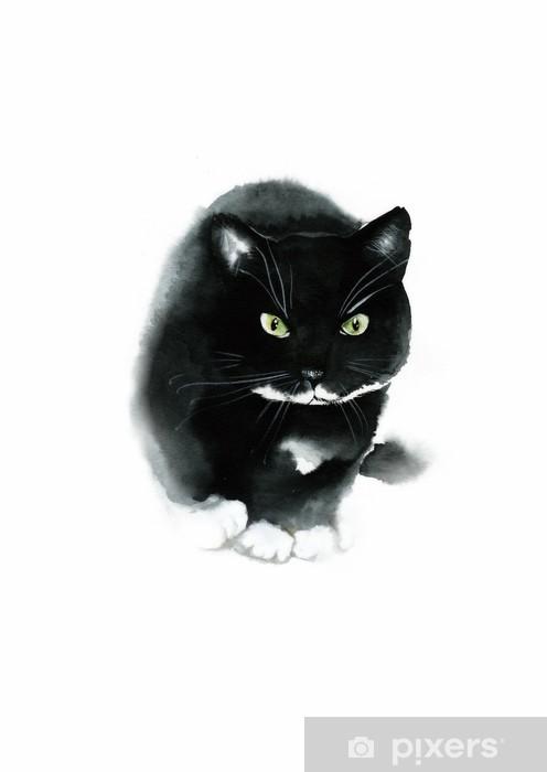 Mladé listy černá kočička