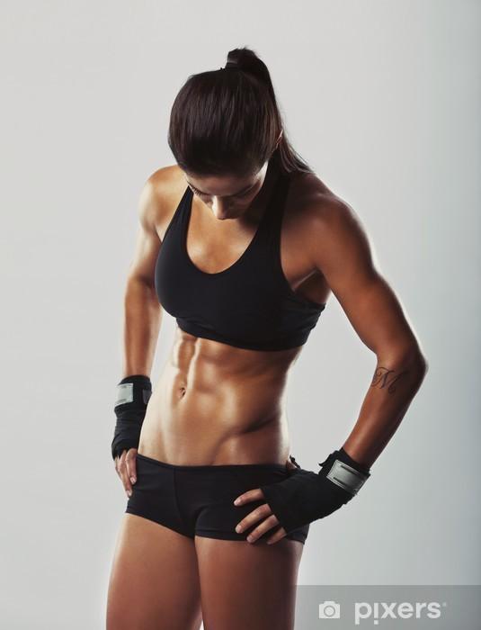Pixerstick Sticker Fitness vrouw die na de training - Thema's