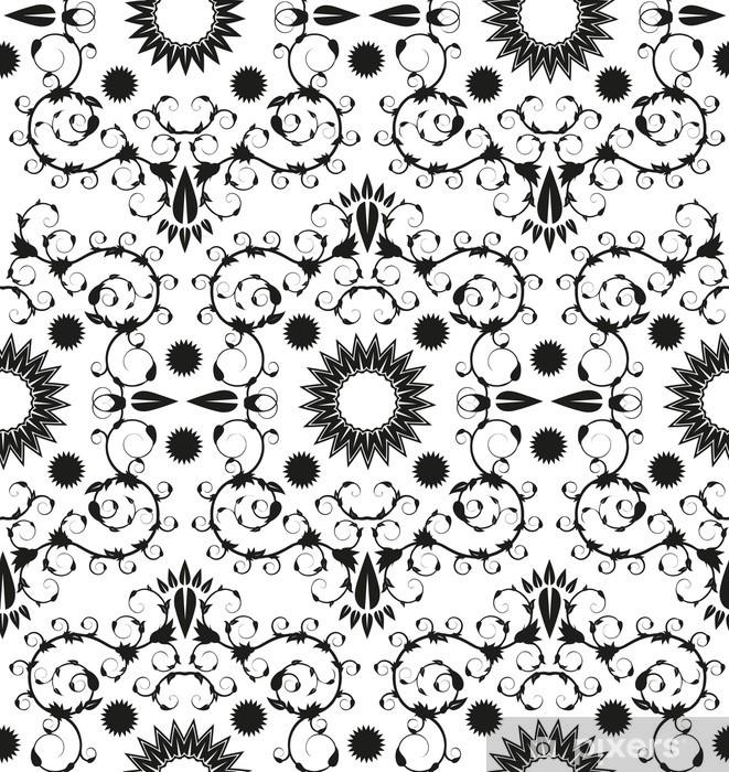 Naklejka Pixerstick Barokowy szwu ornament geometryczny - Tła