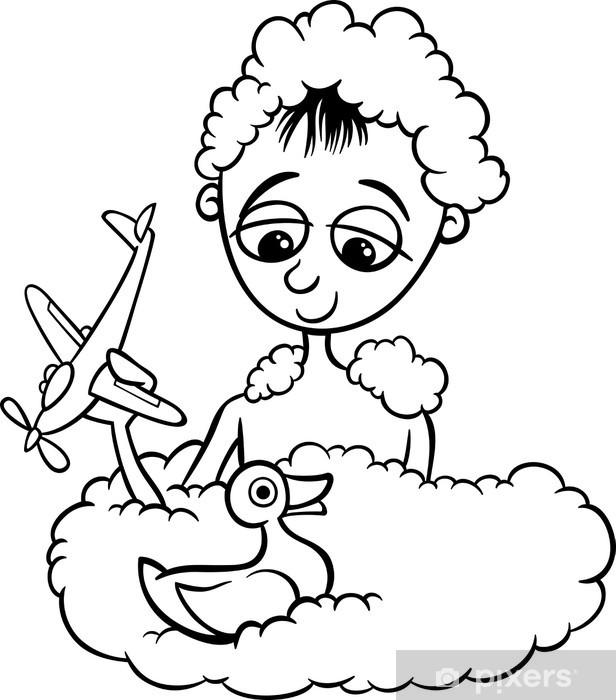 Banyo Boyama Sevimli Küçük çocuk çıkartması Pixerstick Pixers