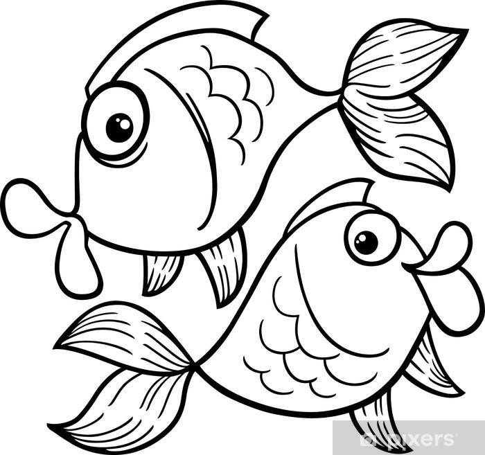 Aufkleber Sternzeichen Fische Oder Fisch Malvorlagen Pixerstick