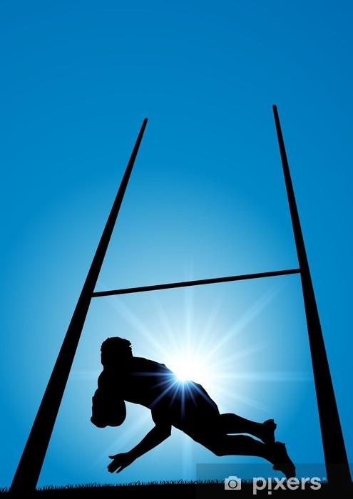 RUGBY essai Pixerstick Sticker - Rugby