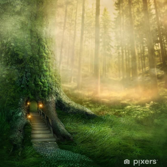 Naklejka Pixerstick Fantazja domek na drzewie - Tematy