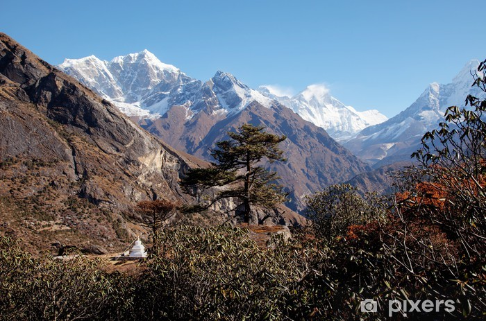 Naklejka Pixerstick Trekking wokół Everest Foothill Nepalu - Azja