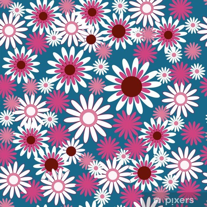 Papier peint vinyle Modèle avec de belles fleurs blanches et roses - Célébrations