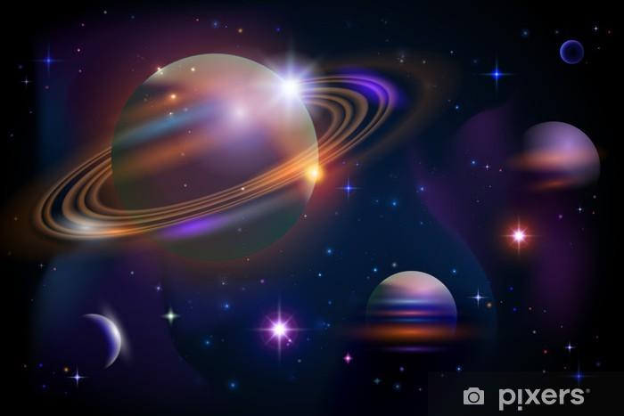 Papier peint vinyle Planètes et espace. - Univers