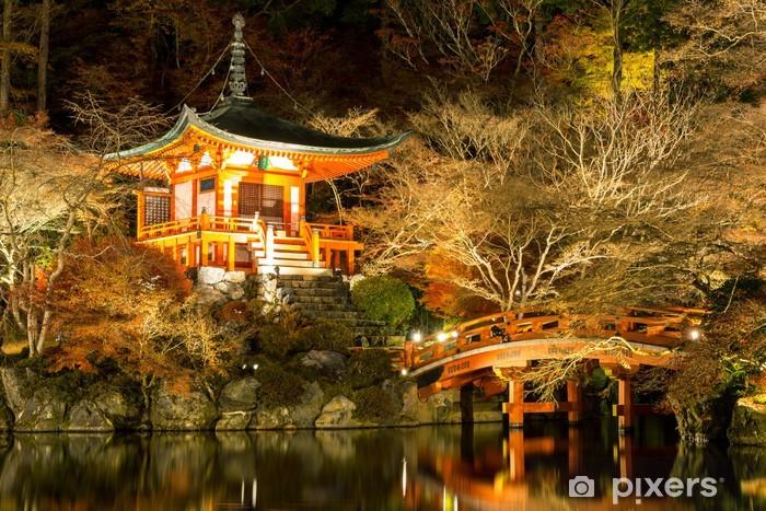 Papier peint vinyle Daigoji Temple Kyoto Japon Nuit - Thèmes