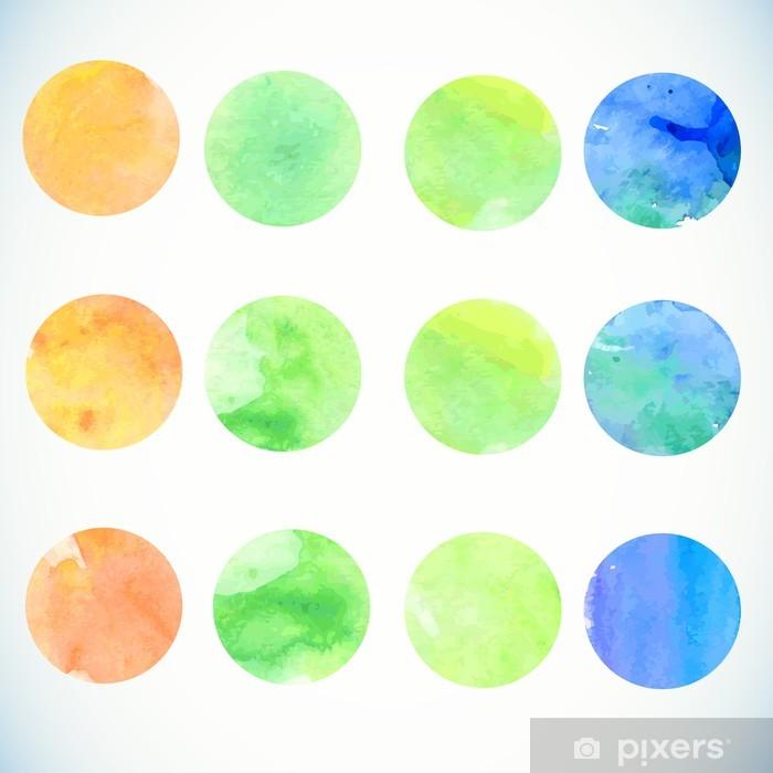 Papier peint vinyle Éléments de conception de cercle d'aquarelle -