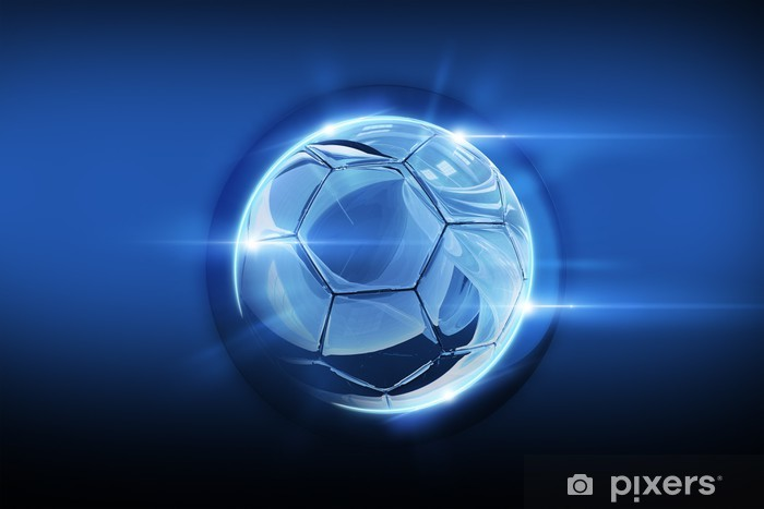 Vinyl-Fototapete Glasigen Soccer Ball - Hintergründe