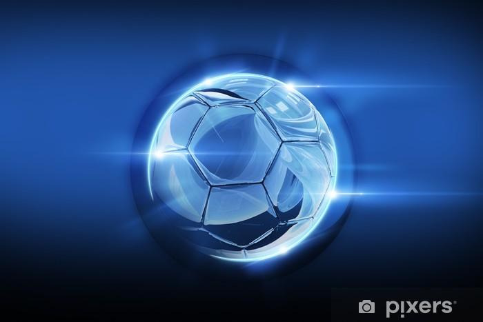 Glassy Soccer Ball Vinyl Wall Mural - Backgrounds