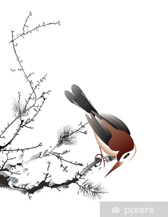 Kuş Boyama Duvar Resmi Pixers Haydi Dünyanızı Değiştirelim