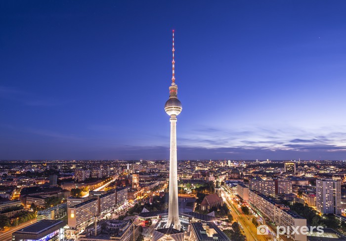 Berlin, Germany Skyline Pixerstick Sticker - Germany