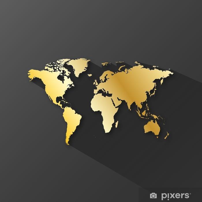 Nálepka Pixerstick MAPA SVĚTA Icon (po celém světě globální tlačítko služební cesty) - Značky a symboly