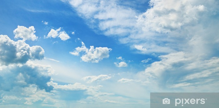 Sticker Pixerstick Nuages dans le ciel bleu - Thèmes