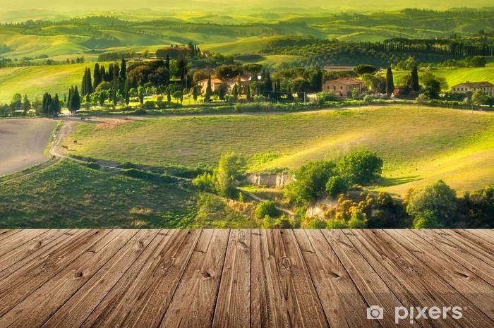 Naklejka Pixerstick Toskania - Włochy - Tematy