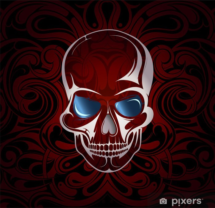 Skull With Mystic Backdrop Eps 10 Wall Mural Pixers We Live To