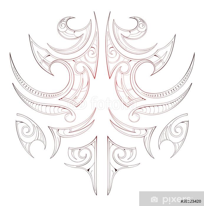 Maori Tribal Tattoo Wall Mural Pixers We Live To Change