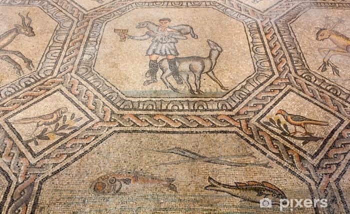 Fotobehang oude vloer mozaïek in de basiliek van aquileia italië