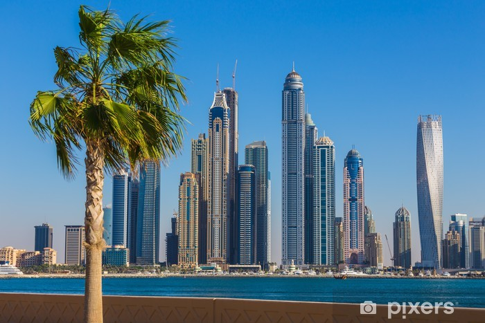 Dubai Marina. UAE Vinyl Wall Mural - Themes