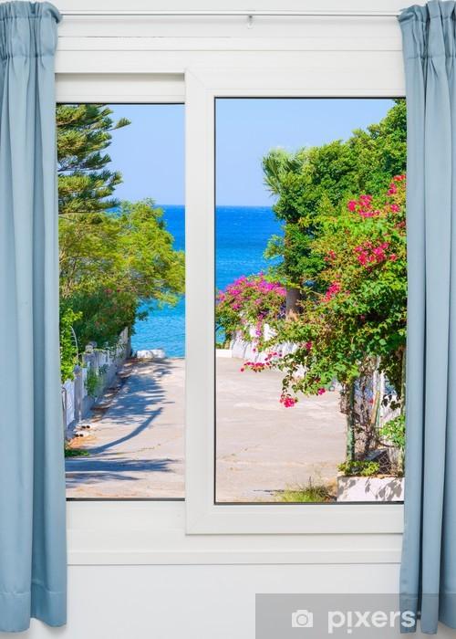 Nálepka Pixerstick Pohled z okna na - Roční období