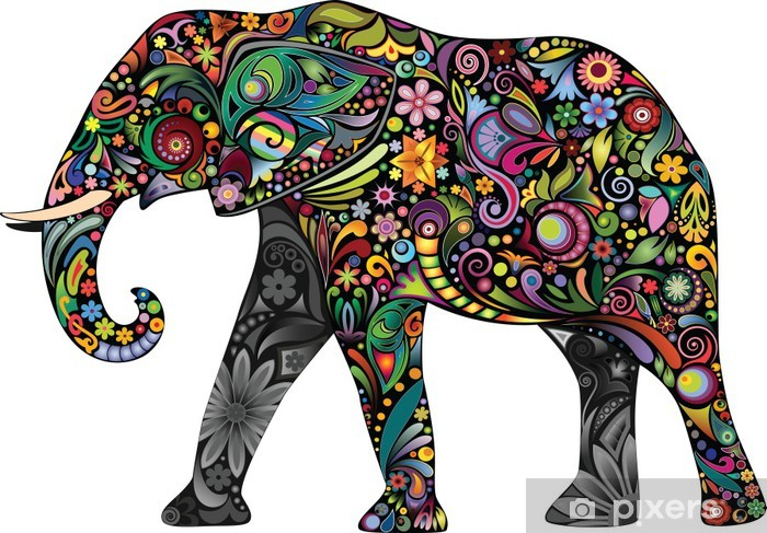 The cheerful elephant Vinyl Wall Mural - Imaginary Animals