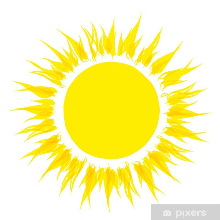 Carta da parati forma astratta sole per il vostro disegno for Sole disegno da colorare