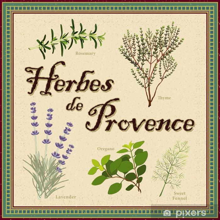 Vinylová fototapeta Herbes de Provence: levandule, rozmarýn, tymián, fenykl, oregano - Vinylová fototapeta