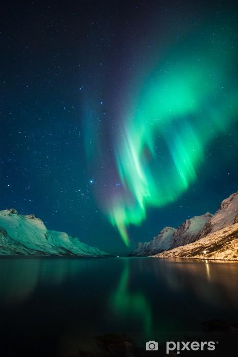 Fotomural Estándar Luces del Norte en Noruega - Temas