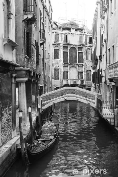 Fotomural Estándar Venecia vista en blanco y negro - Estilos