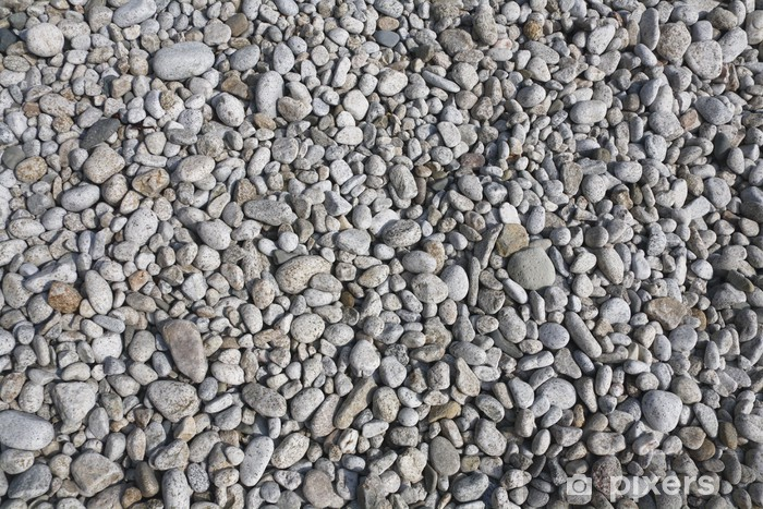 beach white and gray pebble background Vinyl Wall Mural - Textures