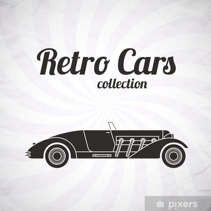 Nálepka Pixerstick Retro kabriolet sportovní vůz, vintage kolekce - Na cestě