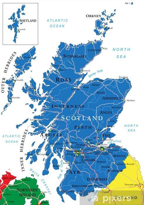 Glasgow Uk Kartta Glasgow Uk Kartta Skotlanti Iso Britannia