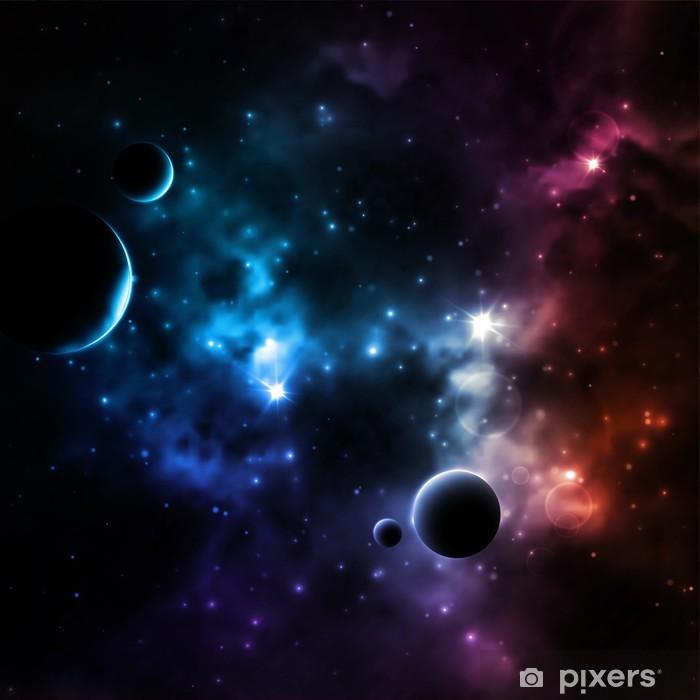 Naklejka Pixerstick Galaxy tle - Wszechświat